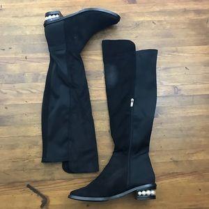 476512eeb3c Catherine Malandrino Shoes - Catherine Malandrino Pasta Faux Pearl OTK Boot  9.5